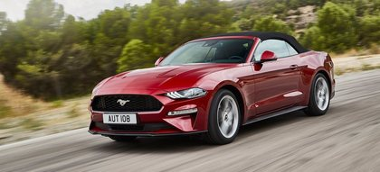 Ford Mustang 2.3 Ecoboost 291 cv Convertible  Los Angeles red perlescente